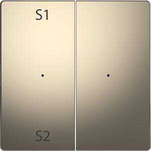 Wippen für Taster-Modul 2fach (Szene1/2, blank), Nickelmetallic, System Design