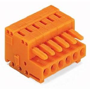 1-Leiter-Federleiste 100% fehlsteckgeschützt 1,5 mm² Rastermaß 3,81 mm 10-polig orange