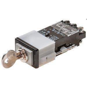 Schlüsselschalter 2U 24x36 mit SchlossdruckhaubeSchraubanschluss