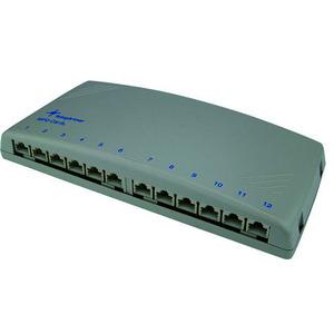 J02022A0053, Mini-Verteiler MPD12-HS K Cat.6A(IEC), lichtgrau RAL 7035