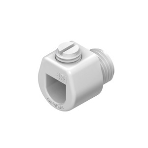 434W, Klemmnippel, Länge 18 mm, Gewinde M10x1, für Kabel-Ø 3-6,5 mm, Kunststoff PS, Farbe weiß