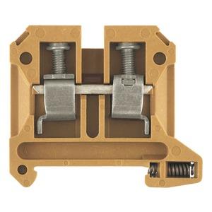SAK 16/35 KRG, Durchgangs-Reihenklemme, Schraubanschluss, 16 mm², 800 V, 76 A, Anzahl Anschlüsse: 2, TS 35, mittelgelb