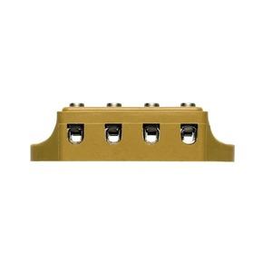 KS 4 O.D4, Ein- und mehrpolige Klemmenleiste, Schraubanschluss, 2.5 mm², 500 V, 24 A, Polzahl: 4, 25 mm, mittelgelb