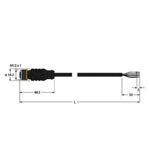 RKC4.4T-P7X2-10/TEL, Aktuator- und Sensorleitung / PVC, Anschlussleitung