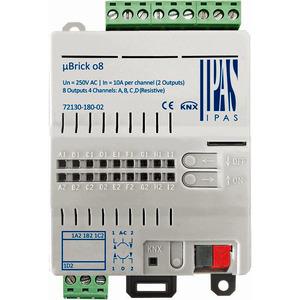 72130-180-02, IPAS uBrick o8, Multifunktionsaktor mit bis zu 8 digitalen Ausgängen (8 x Schalten/4 x Antriebe) 10A
