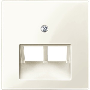 Zentralplatte für UAE-Einsatz, 2fach, weiß glänzend, System M