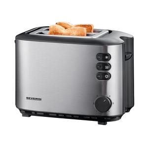 Automatik-Toaster Edelst.-gebürst.-schw.
