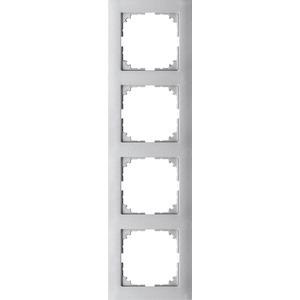 M-Pure-Rahmen, 4fach, aluminium, M-Pure