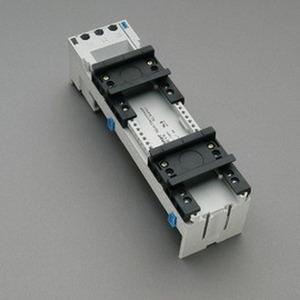 Sammelschienengeräteträger 2 verschiebbare Tragschienen 54 x 200, ohne elektrische Kontaktierung