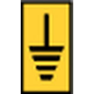 WIC1-Earth-PA66-YE (1000), WIC Kennzeichnungsclip WIC1 ERDE Gelb PAK = 200 ST