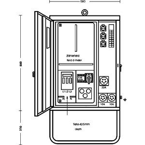 AV 32/321-1, Anschlussverteilerschrank im Gehäuse a