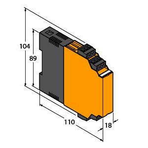 IM1-22EX-R, Trennschaltverstärker, 2-kanalig, TÜV 04 ATEX 2553
