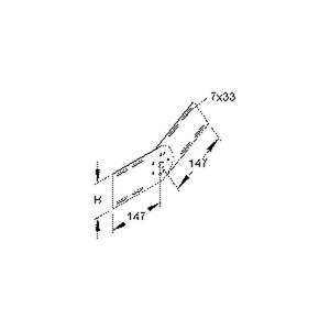 RGV 110 F, Gelenkverbinder, vertikal, Höhe 93 mm, Stahl, feuerverzinkt DIN EN ISO 1461, inkl. Zubehör