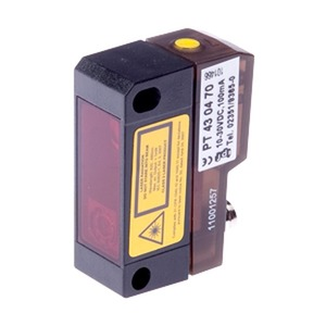 PT430470, Sensor Laser, Taster, 43x32x15mm, Sn: 20-350, 10-30V DC, 2x PNP NC/NO, 100mA, M8-Stecker 4pol...