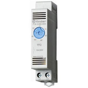 7T.81.0.000.2303, Thermostat für Schaltschrank, Reiheneinbaugerät 17,5 mm breit, 1 Schließer 10 A, einstellbar von +0 bis +60 °C
