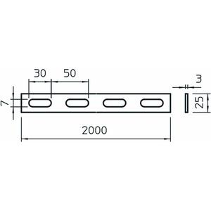 SLH 42 2000 FT, Holmprofil gelocht 25x3x2000, St, FT