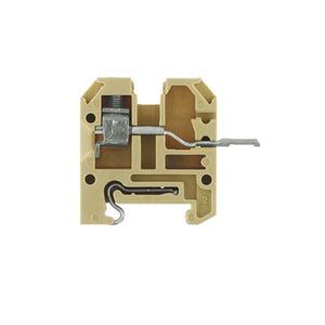AKZ 4L SL VS, Durchgangs-Reihenklemme, Schraubanschluss, 4 mm², 250 V, 17.5 A, Anzahl Anschlüsse: 1, TS 15, beige/gelb