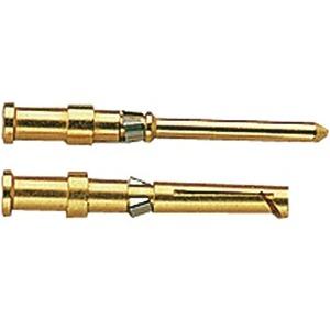 Crimpkontakt, Betriebsstrom: 10A, Stift, Kupferlegierung, HMC vergoldet, Leiterquerschnitt: 0,75mm², AWG 18