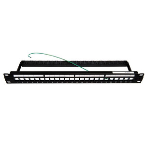 1U 24 PORT STP PATCH PANEL FOR SL JACKS
