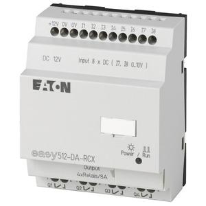 EASY512-DA-RCX, Steuerrelais, 12VDC, 8DI(2AI), 4DO-Relais, Uhr