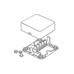 818, Abzweigdose, 28x78x78 mm, Kunststoff PE/PP, RAL 7035, lichtgrau