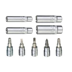 50825303783, Steckschlüsseleinsatz-Sets 1/4 1/4-Vierkant-Antrieb, Schraubendrehereinsätze Schlitz 4/5,5 mm; 6-Kant 3/4/5/6 mm; PZ 1/2; TX 15/20/2530