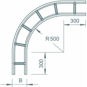WLB 90 112 FS, Bogen 90° für Weitspannkabelleiter 110, 110x200, WLB 90 112