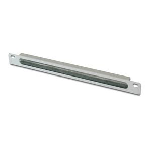 254 mm (10) 0,5HE Kabeldurchführungspanel Farbe Grau (RAL 7035)