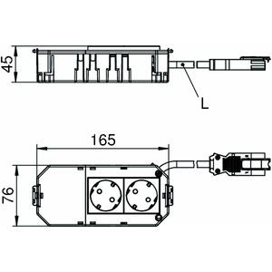 AGB2H1 3W, Anschlussfertiger Gerätebecher halogenfrei