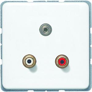 MA CD 1011 WW, Cinch Audio und Miniklinke3,5mm, Tragring, Schraubbefestigung, bruchsicher