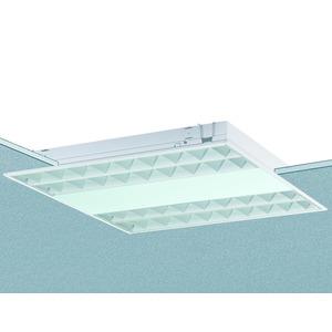 EBRE 414/24 W-EVG, Einbauleuchte weiß, IP20, 4x14, 24W, Multiwatt EVG, weißer Alu-Raster