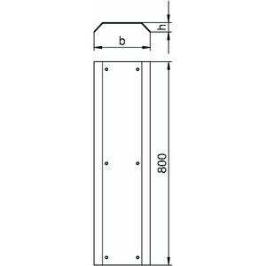 AIKA D 25040, Blinddeckel für Aufboden-Abzweigekanal, St, FS
