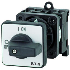 P1-32/IVS/N, EIN-AUS-Schalter, P1, 32 A, Verteilereinbau, 3-polig + N, mit schwarzem Knebel und Frontschild