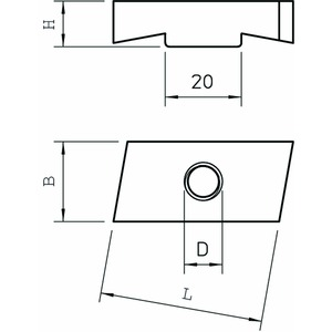 MS40SN M12 ZL, Gleitmutter für Profilschiene MS4022 M12, St, ZL