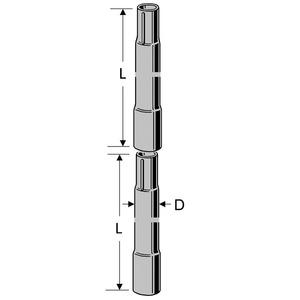 ZSA 21 Steckmast 2,0/42, Antennen-Steckmast 2,0 m, 42 mm