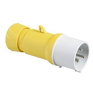 CEE Stecker, Schraubklemmen, 32A, 2p+E, 100-130 V AC, IP44