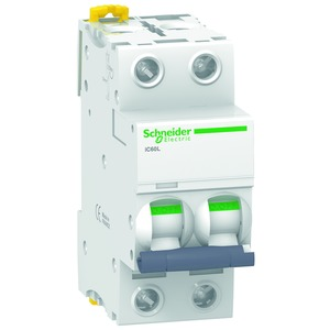 Leitungsschutzschalter iC60L, 2P, 63A, B-Charakteristik, 15kA