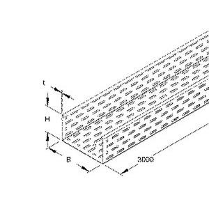 RL 110.100 E3, Kabelrinne, 110x100x3000 mm, t=0,8 mm, gelocht, Edelstahl, Werkstoff-Nr.: 1.4301, 1.4303, inkl. Zubehör