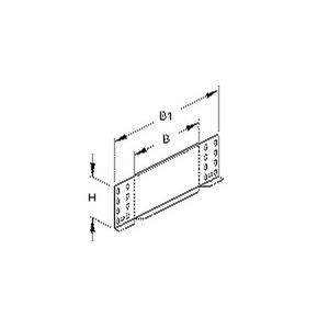 RA 110.200 E3, Reduzier-/Abschlussstück für KR, 110x200 mm, Edelstahl, Werkstoff-Nr.: 1.4301, 1.4303, inkl. Zubehör