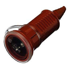 16 A, 2-polig, +E 230 V, IP44, mit Deckel, für erschwerte Bedingungen, Farbe: orange
