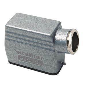 Tüllengehäuse A10 und D15 aus Aluminium der Höhe 66mm mit Längsverriegelungsnocken, 1xM25 Verschraubung und Kabeleinführung seitlich-T708710MV