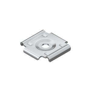 GRWB 10 F, Wand- und Bodenbefestigungsplatte, Stahl, feuerverzinkt DIN EN ISO 1461