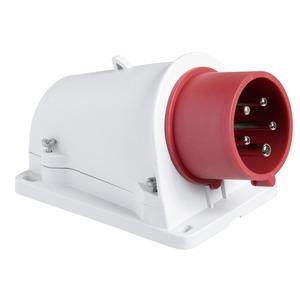 CEE Wandgerätestecker Schneidklemmen, 16A, 2p+E, 380-415 V AC, IP44
