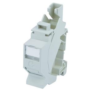 Tragschienen-Verbinder TS45 AMJ-S inkl. AMJ-S Modul Cat.6A(IEC) T568B