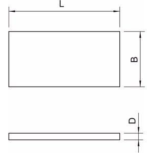 GLB-P1, Brandschutzplatte 600x120x20, grau