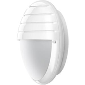 DUNE SCHIRM CFL 2X, Wand- und Deckenleuchte Dune Schirm CFL 2x9W Weiß aus Polycarbonat, IP54, IK10, Schutzklasse II
