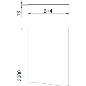 DRLU 200 DD, Deckel ungelocht für Kabelrinne und Kabelleiter 200x3000, St, DD