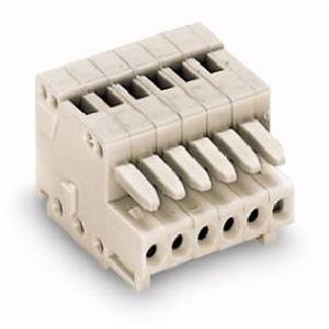 1-Leiter-Federleiste 100% fehlsteckgeschützt 0,5 mm² Rastermaß 2,5 mm 2-polig lichtgrau