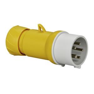 CEE Stecker, Schraubklemmen, 16A, 3p+N+E, 100-130 V AC, IP44
