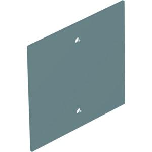T12L P05S 9011, Abdeckplatte ohne Lochbild für T12L 94.5x88mm, PVC, graphitschwarz, RAL 9011